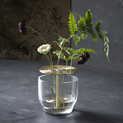 Ikebana vase small with flowers