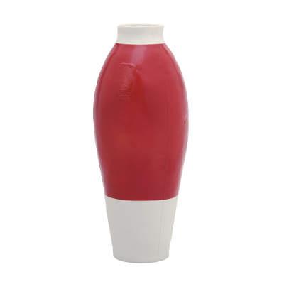 Tichelaar Makkum RWVJ Red white vase