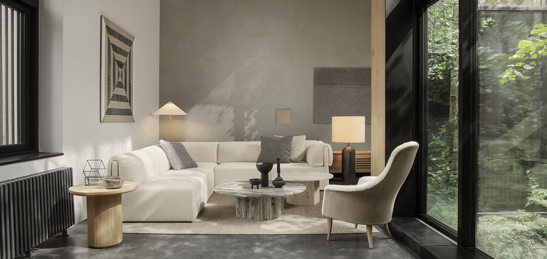 De Wonder Sofa en EPIC Table van Gubi